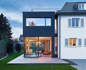 Kosten Anbau Holzständerbauweise : umbau walmdachhaus mit modernem anbau erweitert ~ Lizthompson.info Haus und Dekorationen