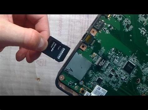 repair notebook sd card slot fix problem   work
