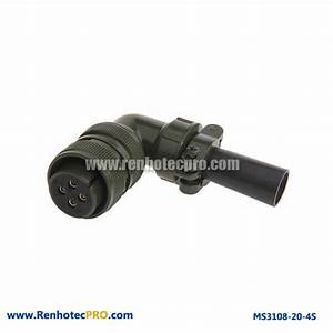 Military Specifitaion Connector MS 5015 4 Pins Socket ...