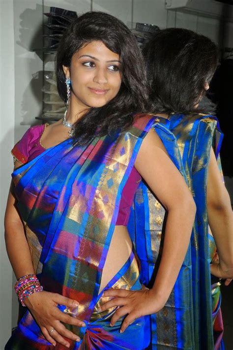 Supriya Shailaja Hot Saree Side View Photos South Actress