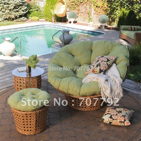 Papasan Chair Outdoor by All Weather Wicker Outdoor Papasan Chair Set In Garden