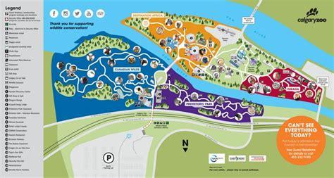 calgary zoo map