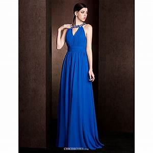 Court Train Chiffon / Stretch Satin Bridesmaid Dress ...
