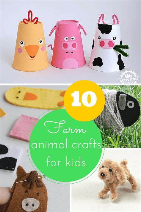 fun farm animal crafts  kids