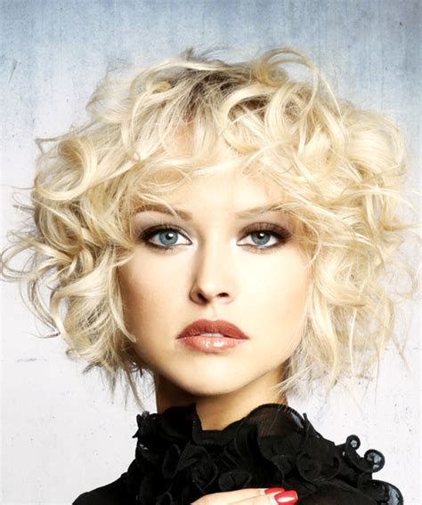formal short curly shag hairstyle  layered bangs