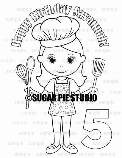 Coloring Baker Chef Activity Pdf Birthday Party