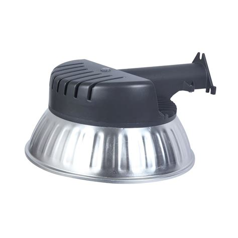 lutec wall pole mount gray outdoor integrated led area light with dusk to dawn control 6301a pho