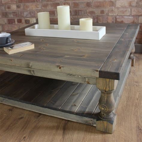 Shop our best selection of farmhouse & cottage style coffee tables to reflect your style and inspire your home. Large Square Handmade Solid Pine Farmhouse Coffee Table   Etsy   Coffee table farmhouse, Coffee ...