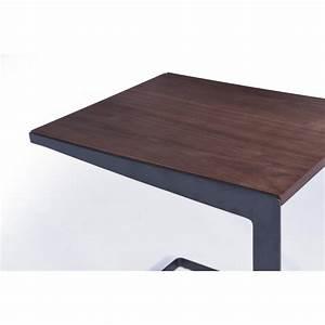 Table D Appoint Canapé : table d 39 appoint bout de canap vintage magen en bois noyer ~ Teatrodelosmanantiales.com Idées de Décoration
