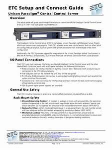 Etc Setup And Connect Guide Unison Paradigm Central