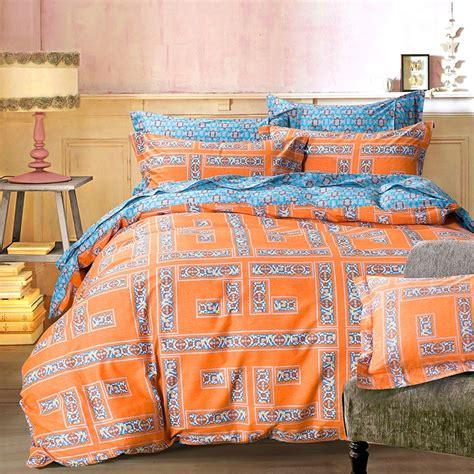 orange duvet cover king arabesque orange geometric bedding sets king size