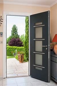 Porte Entree Maison : porte d 39 entr e aluminium volt porte aluminium design ~ Premium-room.com Idées de Décoration