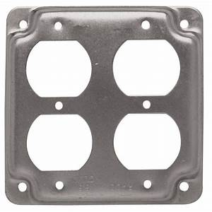 Raco 4 In  Square Exposed Work Cover For Two Duplex Receptacles  10-pack -907c