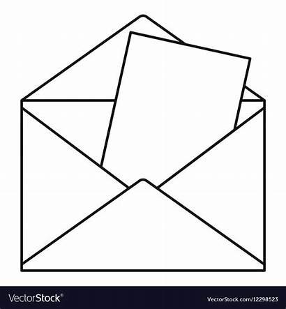 Envelope Outline Briefumschlag Icon Symbol Umriss Stil
