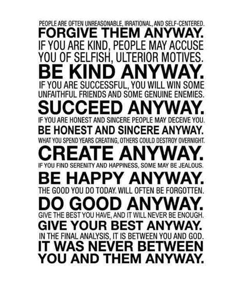 Mother Teresa Quotes Do Your Best Anyway