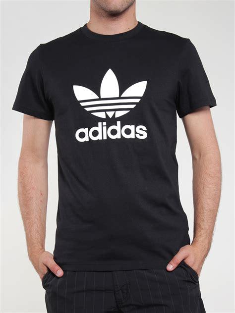 t shirt adidas adidas t shirt trefoil black white the t