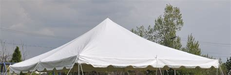 pole tent canopy top