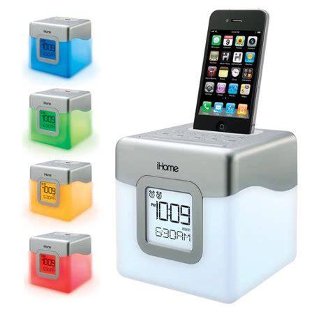 speaker that changes color ihome ip18 dock color change clock speaker walmart