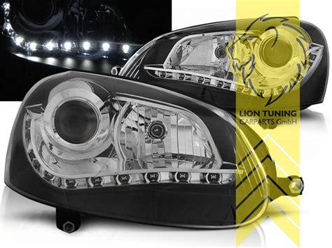 golf 5 led scheinwerfer led tagfahrlicht optik scheinwerfer f 252 r vw golf 5 limousine variant schwarz ebay