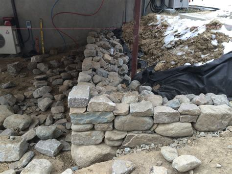 fieldstone retaining wall cost drystack stone retaining wall lincoln ma concord stoneworks