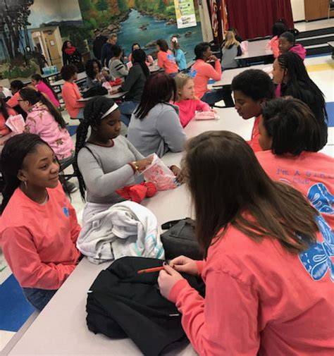 forest hills high students share girl power mentees