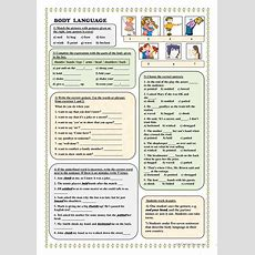Body Language (vocabulary) Worksheet  Free Esl Printable Worksheets Made By Teachers