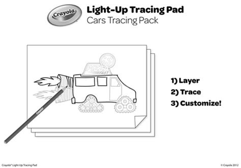 Cars Tracing Pack Coloring Page