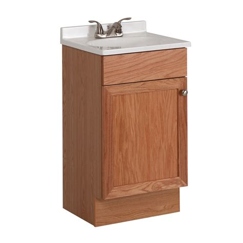 18 bathroom vanity with sink shop project source oak integral single sink bathroom