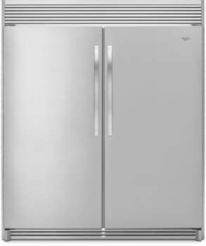2 door with shelves whirlpool whrefr1 by column refrigerator