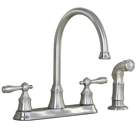 kitchen faucets lowes shop aquasource stainless steel pvd 2 handle high arc
