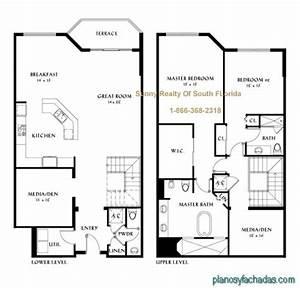15 Planos de casas pequeñas de dos pisos - Planos y
