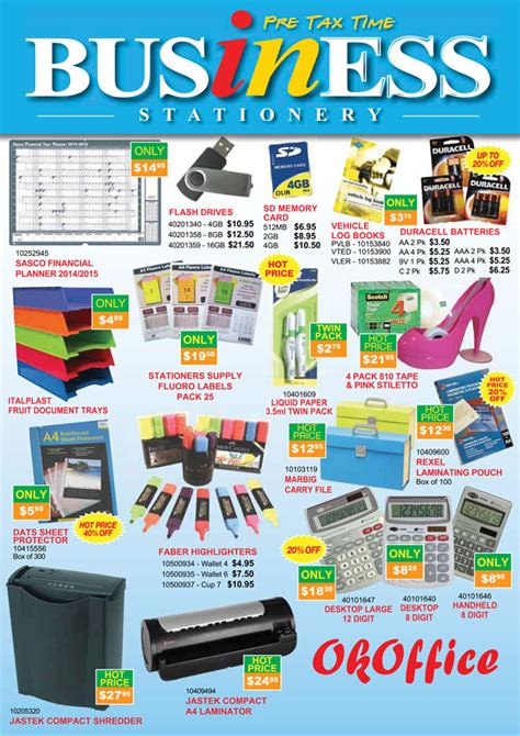 Office Supplies Mi by Stationery Stationery Catalogue