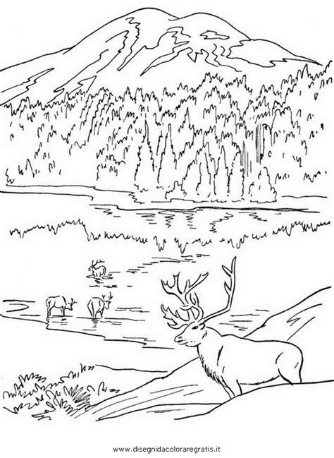 disegni semplici da fare con gli acquerelli disegno montagna 24 da colorare