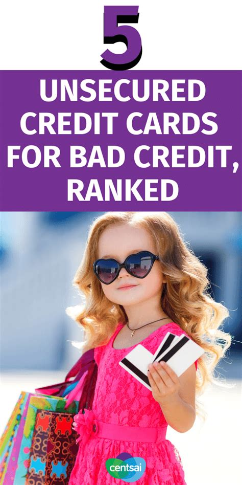 Your credit not where you'd like it to be? Unsecured Credit Cards for Bad Credit, Ranked | CentSai