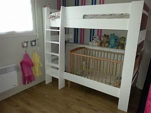 Lit Superposé Enfant : pack lit superpos enfant wax blanc 90x190 cm avec 2 matelas ~ Teatrodelosmanantiales.com Idées de Décoration