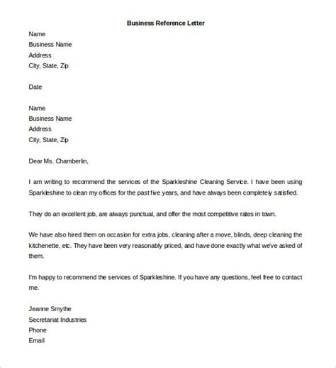 Free Reference Letter Templates
