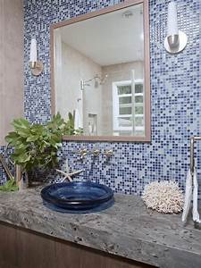beautiful glass mosaic tile for bathroom wall tiles and With kitchen cabinets lowes with blue mosaic wall art