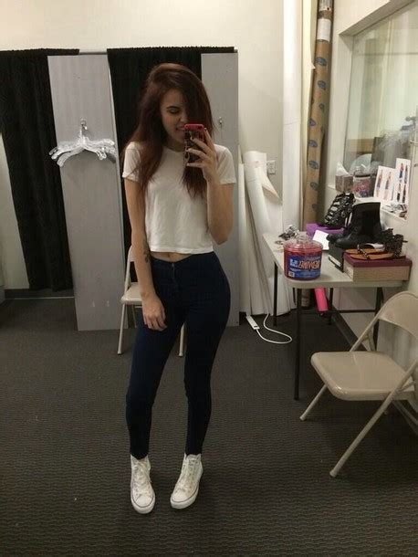 Tank top black pants white crop tops white converse black jeans shoes casual shirt ...