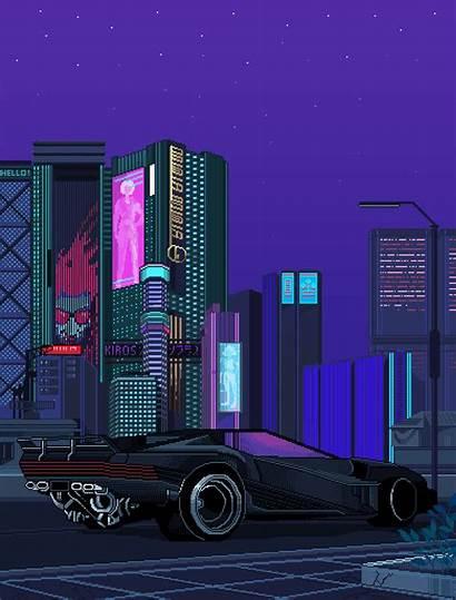 Pixel Vaporwave Bangkok Anime Non Cars Thailand