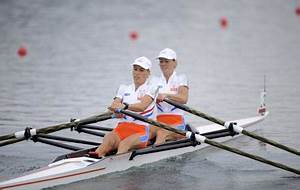 Netherlands wins lightweight women's double sculls gold--