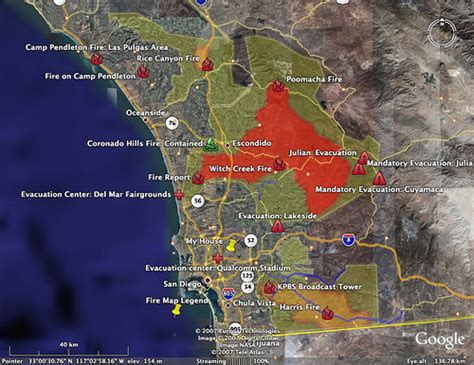 intersections  hellish fires  san diego
