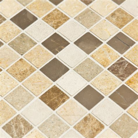 salle de bain mosaique beige mosa 239 que marbre chiara blanche marron beige indoor by