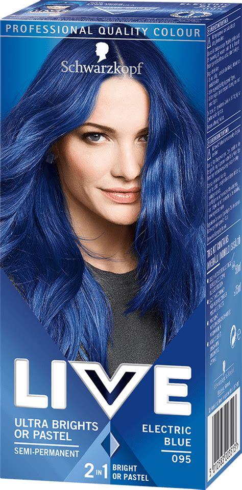 095 Electric Blue Hair Dye By Live Live Colour Hair Dye