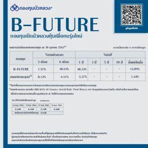 กองทุน B-FUTURE จ่ายปันผลต่อเนื่องครั้งที่ 4 วันที่ 13 ...