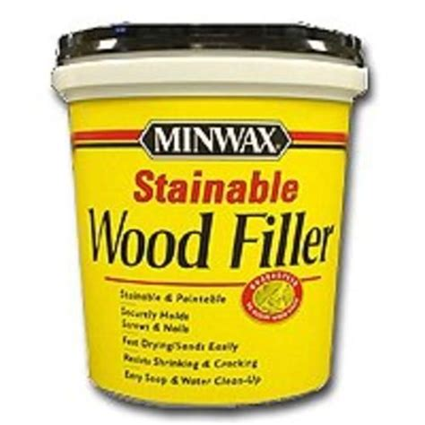 The dust from sanding wood of the same species is preferable, as larger sawdust may show unwanted. Minwax 42853 Stainable Wood Filler, 16 Oz in 2020 | Minwax, Wood, Nails, screws