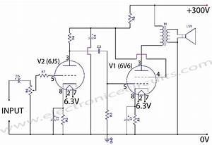 6v6 6j5 Class A Valve  Vacuum Tube  Amplifier Circuit