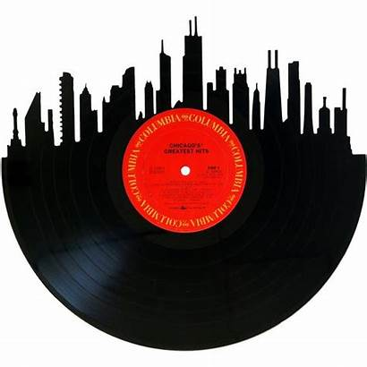 Skyline Chicago Vinyl Record Records Silhouette Wall