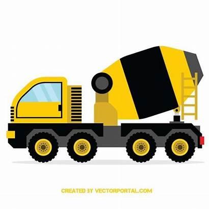 Concrete Construction Mixer Cement Truck Clipart Vehicles
