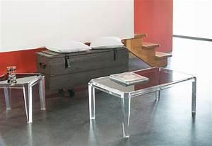 Table En Plexiglas : table basse plexiglas ~ Teatrodelosmanantiales.com Idées de Décoration