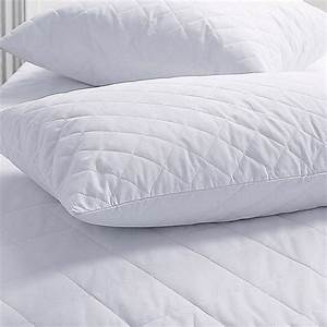 quilted pair pillow protector linenstar With bed pillow protective covers